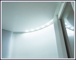 Controllable dimmed ceiling downlight